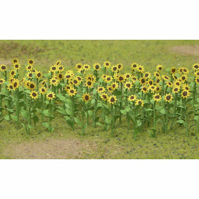 "JTT Miniature Tree - Sunflowers - Assembled -- 2""  5cm Tall pkg(16) - O"