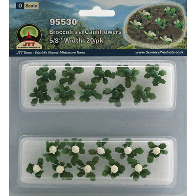 "JTT Miniature Tree - Broccoli & Cauliflower -- 5/8""  1.6cm Tall pkg(20) - O"