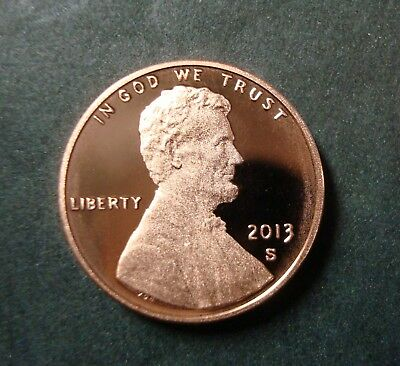 2013-S Beautiful Red Gem Proof Lincoln Sheild Cent Ultra Cameo Nice Coin A-13