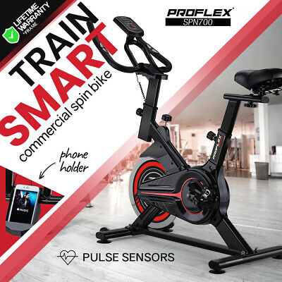 NEW PROFLEX Spin Bike Flywheel Commercial Gym Exercise Home Fitness Grey