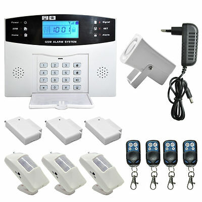 Wireless LCD GSM SMS Burglar Fire Alarm System Auto Dialer Home Security Safe FH