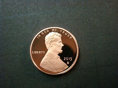 2015-S Proof Red Gem Lincoln Sheild Cent Ultra Cameo Spot-Free Finish Nice Coin