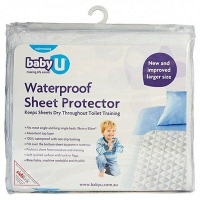 NEW Baby U Waterproof Sheet Protector for Single Bed from Baby Barn Discounts