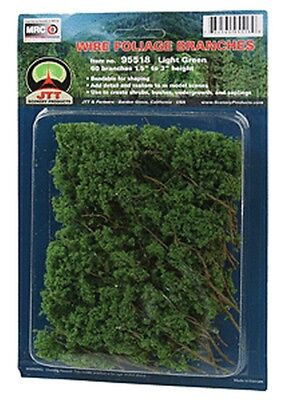 JTT Miniature Tree-Foliage Branches Lt Grn - O