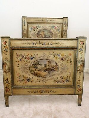 Beautiful Hand painted European Single Bed, Perfect for Guest Room.