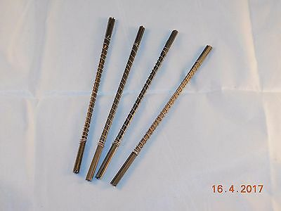 12 Pinless Scroll Saw Blades (Metal Cutting) No 3 & Storage Tube German Made