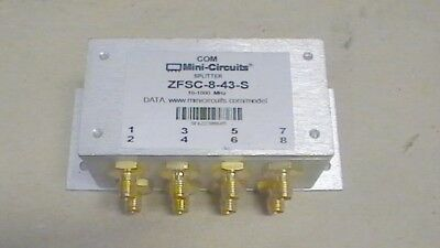 MINI CIRCUITS ZFSC-8-43-S SMA RF Power Splitter Combiner 10-1000Mhz .010-1 GHz