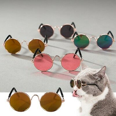 Fashion Pet Cat Dog Sunglasses Glasses Eye Wear Cool Grooming Photos Props New .