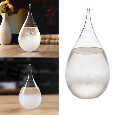 Weather Forecast Crystal Drops Water Shape Storm Glass Home Decor New .