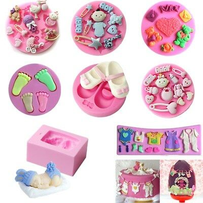 3D Silicone Baby Shower Fondant Mould Cake Decorating Chocolate Baking Mold Tool