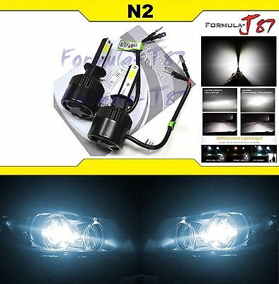 LED Kit N2 72W H1 6000K White Two Bulbs Head Light Replacement Low Beam Lamp OE