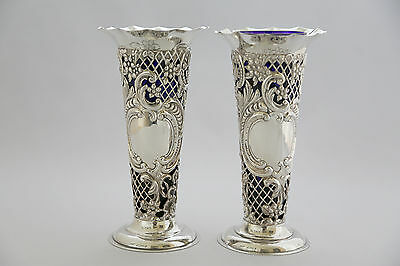 Victorian pierced Vases by William Comyns  1894
