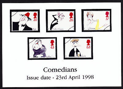 GB Great Britain Comedy Comedians stamp set issue photograph photo 1998 Advert