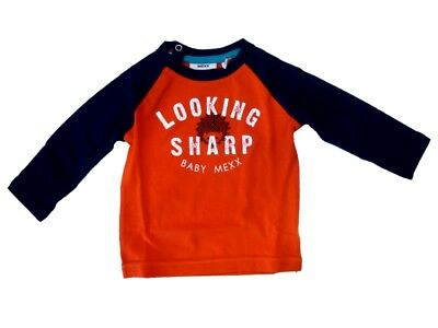 Mexx Baby Long Sleeved Shirt with Front Print Fiory Red for Boys sz. 50/56 62