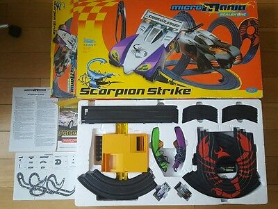Large Micro Mania Scalextric Scorpion Strike Set Toy Scalextric Set