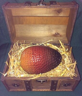 Dragon Egg 1pc With Display Chest Game Of Thrones Harry Potter Collectables Gift