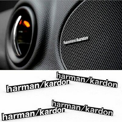 4 Sticker Harman Kardon aluminium badge logo haut-parleur AUTOCOLLANT BMW Mini