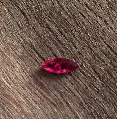 MARQUISE CUT SHAPE NATURAL RUBY 0.435CT 5.5MM x 3.5MM FACETED 1PC LOOSE GEMSTONE