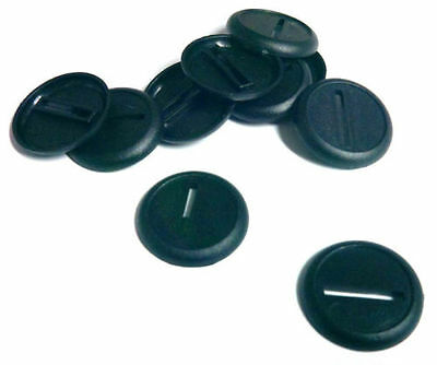 12 (Twelve) 30mm Lipped / Round Bases for Wargaming / Roleplaying NEW