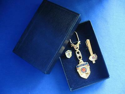 Serbia Police Luxury Set Cased Keychain Tie Clip & Badge