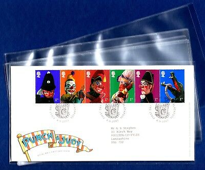 PRINZ Covers For DL Size Royal Mail FDC & Presentation Packs 10, 20, 50 or 100