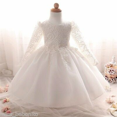 Eleanor Baby Girl Formal Dress Christening Wedding Party Gown Bridesmaid 0-10 Yr