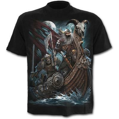 Spiral Direct - Viking Dead T Shirt - Horror Gothic Norse Odin Thor