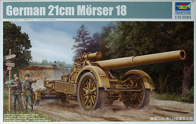 Trumpeter German 21cm Morser 18  1:35 Scale Kit