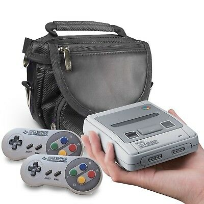 Orzly Travel & Storage Bag for Nintendo SNES Mini 2017 - Black