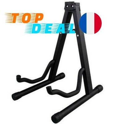 Support Repose Guitare Stand Pied Fixation A Frame Universel Portable Noir NEUF