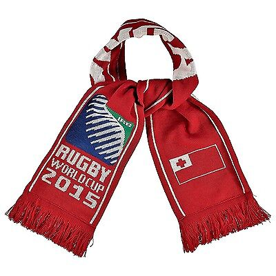 Official Rugby World Cup 2015 Tonga Flag Red Knitted Scarf by Canterbury BNWT