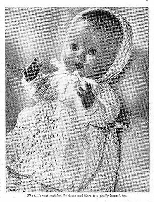 COPY_Vintage Doll Clothes Knitting Pattern  Women's Weekly 1955