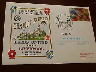Leeds United v Liverpool First Day Cover Charity Shield 8/8/1992