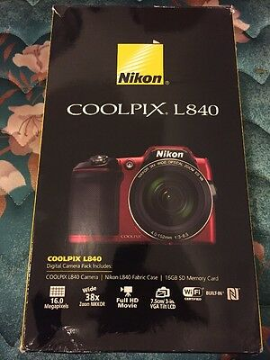 Nikon COOLPIX L840 16MP Digital Camera with 38x Zoom VR Lens - SOLD AS-IS PARTS