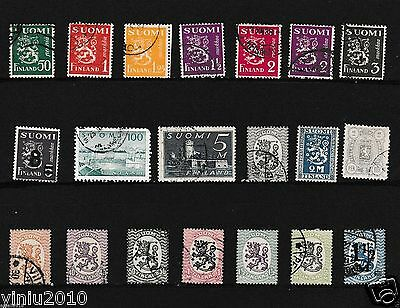Finland Stamps Mix Lot. VFU.