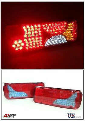 Set Of 2 Led Rear Tail Truck Lights 24V For MAN TGA TGL TGX TGM TGS