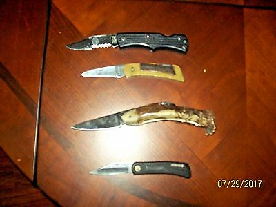 Collectible Pocket Knives Lot Of 4 Kershaw, Imperial, And More