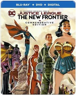 JUSTICE LEAGUE : NEW FRONTIER steelbook edit Blu Ray - Sealed Region free for UK