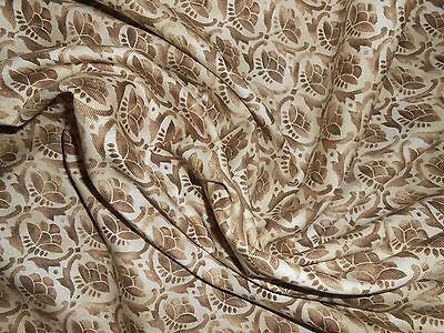 6 Y new SCALAMANDRE cotton fabric TIMUR small print in soft chocolate brown