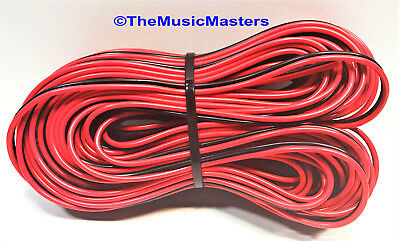 12 Gauge 30/' ft SPEAKER WIRE Red Black Cable Car Audio Home Stereo 12V DC Power