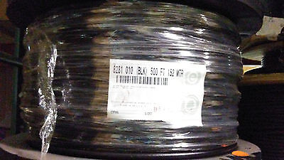 500' Belden 8281 010 Coax 20 Awg Double Braided Rg59 Black Cable