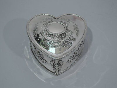 Durgin Box - Antique Valentine's Day Heart - Caldwell - American Sterling Silver
