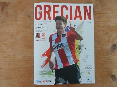 Exeter City v Lincoln City Season 17/18 19th August 2017 EFL League Two