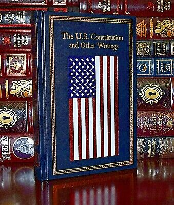 The U.S. Constitution Writings Federalist Papers New Leather Bound Collectible