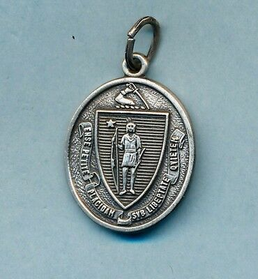 Vintage sterling slver Massachusetts state seal~ Maine Charm