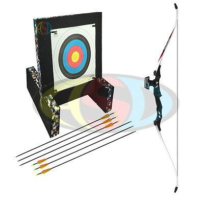ASD Mens Blk & Wht Electrocution Take Down Recurve Archery Bow - Starter Package