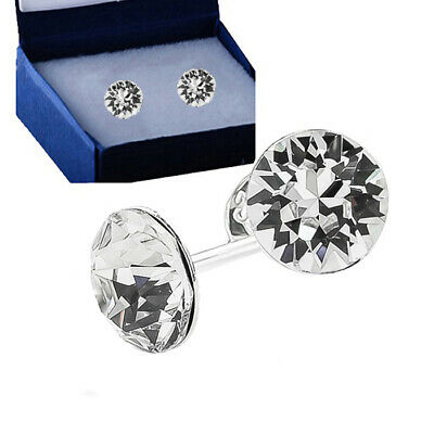 925 Sterling Silver Stud Earrings Genuine Xirius 6 mm Crystals from Swarovski®