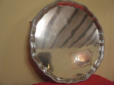 1,225 grams,LOVELY LARGE 1936 GOLDSMITHS & SILVERSMITHS SOLID SILVER TRAY.