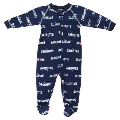 New England Patriots Baby Infant Zip-Up Coverall Sleeper