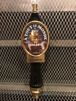 MEGADETH A TOUT LE MONDE ~ UNIBROUE BREWERY Quebec Canada ~ Beer Tap Handle